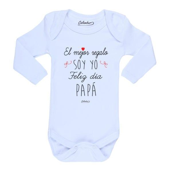 Ropa Bebe Body Calambur 100% algodón Moda Infantil Pilucho El Mejor Regalo Soy Yo Feliz Día Papá