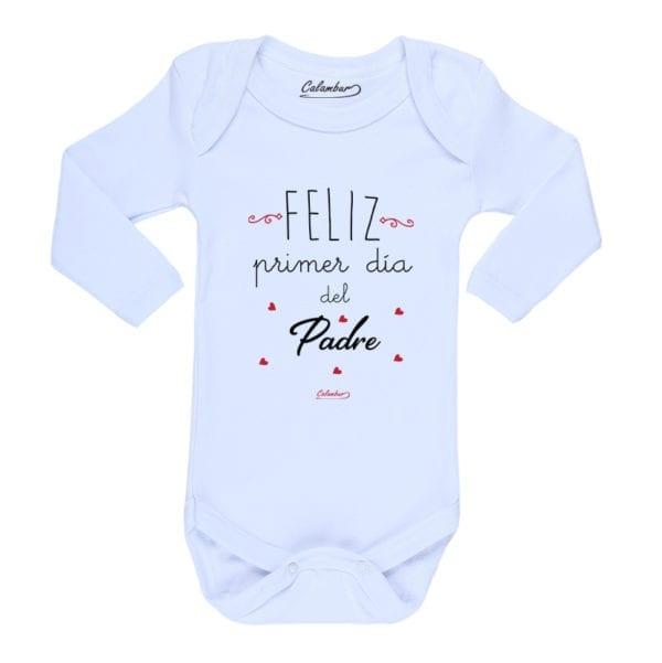 Ropa Bebe Body Calambur 100% algodón Moda Infantil Pilucho Feliz Primer Día Del Padre