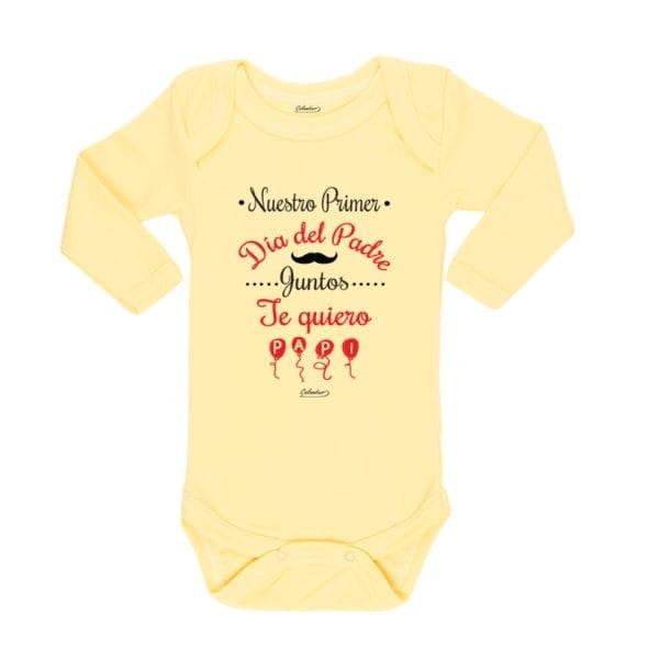 Ropa Bebe Body Calambur 100% algodón Moda Infantil Pilucho Nuestro Primer Día Del Padre Juntos Te Quiero Papi