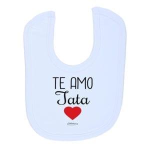 Babero Bebé Doble Cara Velcro Y Toalla Calambur Te Amo Tata
