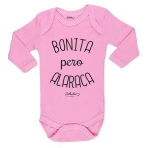 Ropa Bebe Body Calambur 100% algodón Moda Infantil Pilucho Bonita Pero Alaraca