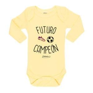 Ropa Bebe Body Calambur 100% algodón Moda Infantil Pilucho Futuro Campeón