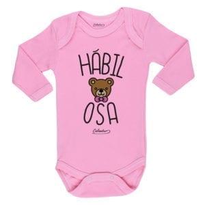 Ropa Bebe Body Calambur 100% algodón Moda Infantil Pilucho Hábil Osa