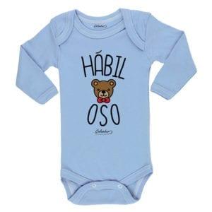 Ropa Bebe Body Calambur 100% algodón Moda Infantil Pilucho Hábil Oso