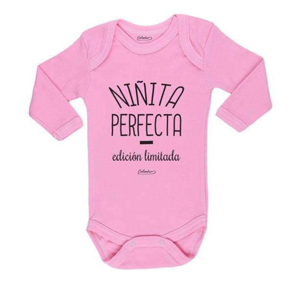 Ropa Bebe Body Calambur 100% algodón Moda Infantil Pilucho Niñita Perfecta Edición Limitada