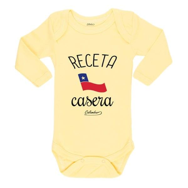 Ropa Bebe Body Calambur 100% algodón Moda Infantil Pilucho Receta Casera