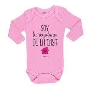 Ropa Bebe Body Calambur 100% algodón Moda Infantil Pilucho Soy La Regalona De La Casa