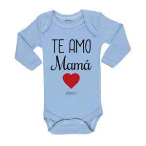 Ropa Bebe Body Calambur 100% algodón Moda Infantil Pilucho Te Amo Mamá