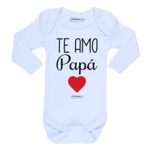 Ropa Bebe Body Calambur 100% algodón Moda Infantil Pilucho Te Amo Papá
