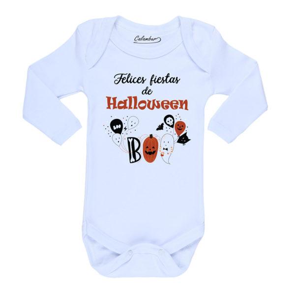 Ropa Bebe Body Calambur 100% algodón Moda Infantil Pilucho Felices Fiestas de Halloween