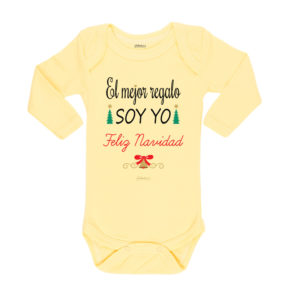 Ropa Bebe Body Calambur 100% algodón Moda Infantil Pilucho El Mejor Regalo Soy Yo Feliz Navidad