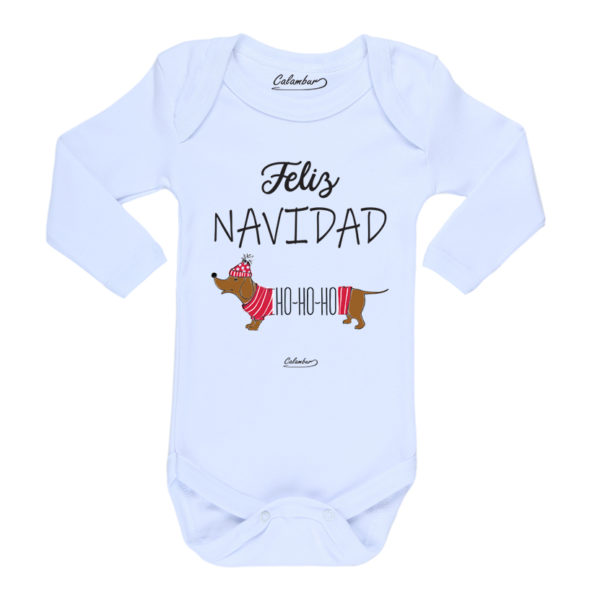 Ropa Bebe Body Calambur 100% algodón Moda Infantil Pilucho Feliz Navidad HO-HO-HO