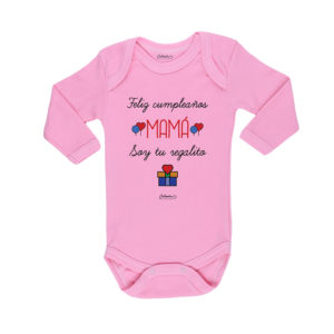 Ropa Bebe Body Calambur 100% algodón Moda Infantil Pilucho Feliz Cumpleaños Mamá Soy Tu Regalito