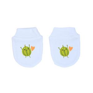 Mitones Bebé Recién Nacido 100% Algodón Calambur Melones
