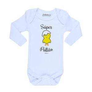 Ropa Bebe Body Calambur 100% algodón Moda Infantil Pilucho Súper Pollito