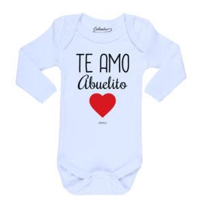 Ropa Bebe Body Calambur 100% algodón Moda Infantil Pilucho Te Amo Abuelito