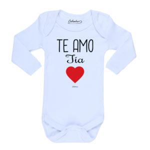 Ropa Bebe Body Calambur 100% algodón Moda Infantil Pilucho Te Amo Tía