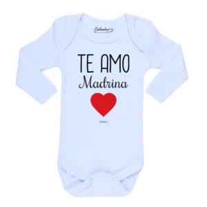 Ropa Bebe Body Calambur 100% algodón Moda Infantil Pilucho Te Amo Madrina