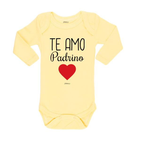 Ropa Bebe Body Calambur 100% algodón Moda Infantil Pilucho Te Amo Padrino