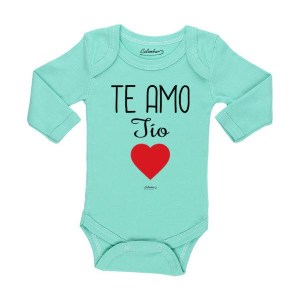Ropa Bebe Body Calambur 100% algodón Moda Infantil Pilucho Te Amo Tío