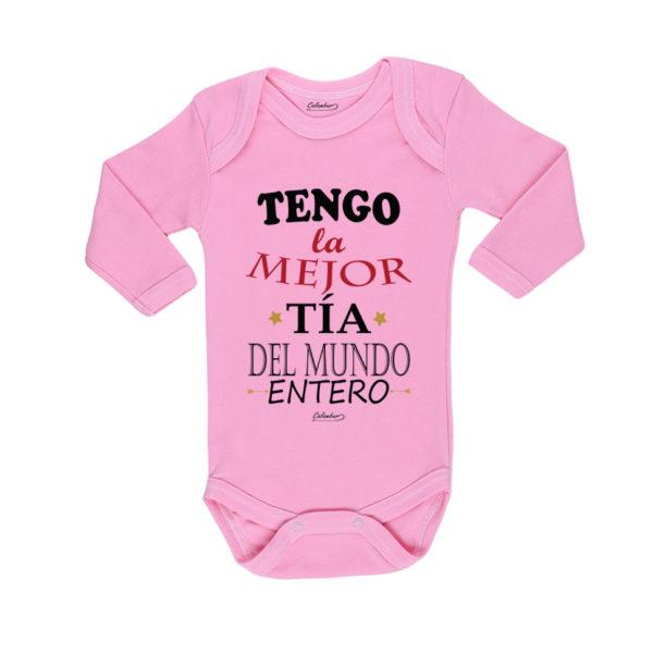 Ropa Bebe Body Calambur 100% algodón Moda Infantil Pilucho Tengo La Mejor Tía Del Mundo Entero