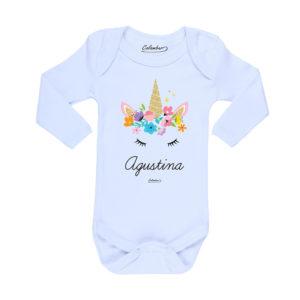 Ropa Bebe Body Calambur 100% algodón Moda Infantil Pilucho Unicornio Nombre Personalizado