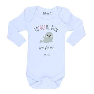 Ropa Bebe Body Calambur 100% algodón Moda Infantil Pilucho Enfócame Bien Por Favor