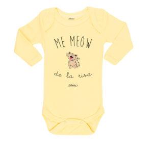 Ropa Bebe Body Calambur 100% algodón Moda Infantil Pilucho Me Meow De La Risa