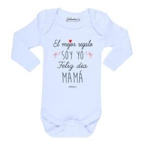 Ropa Bebe Body Calambur 100% algodón Moda Infantil Pilucho El Mejor Regalo Soy Yo Feliz Día Mamá