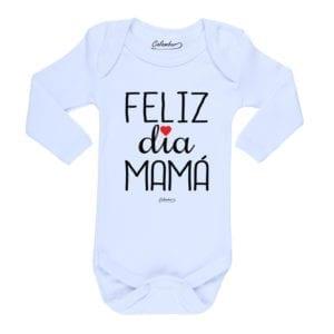 Ropa Bebe Body Calambur 100% algodón Moda Infantil Pilucho Feliz Día Mamá