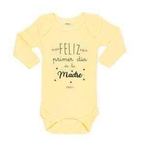 Ropa Bebe Body Calambur 100% algodón Moda Infantil Pilucho Feliz Primer Día De La Madre