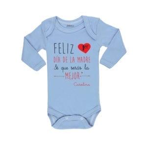 Ropa Bebe Body Calambur 100% algodón Moda Infantil Pilucho Feliz Primer Día De La Madre Nombre Firma