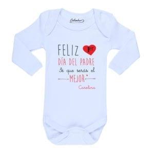 Ropa Bebe Body Calambur 100% algodón Moda Infantil Pilucho Feliz Primer Día Del Padre Mejor Nombre Firma