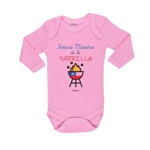 Ropa Bebe Body Calambur 100% algodón Moda Infantil Pilucho Futura Maestra de la Parrilla
