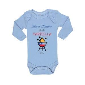 Ropa Bebe Body Calambur 100% algodón Moda Infantil Pilucho Futuro Maestro de la Parrilla