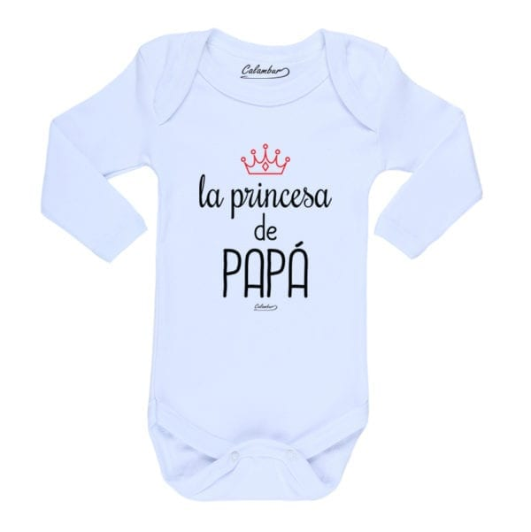 Ropa Bebe Body Calambur 100% algodón Moda Infantil Pilucho La Princesa de Papá