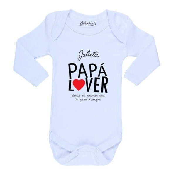 Ropa Bebe Body Calambur 100% algodón Moda Infantil Pilucho Papá Lover Nombre Personalizado