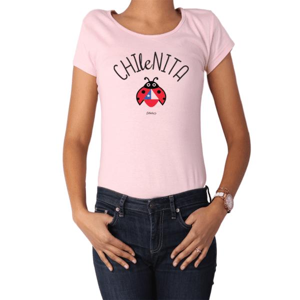 Polera Mujer Calambur 100% algodón Mensaje Divertido Estampado Chilenita