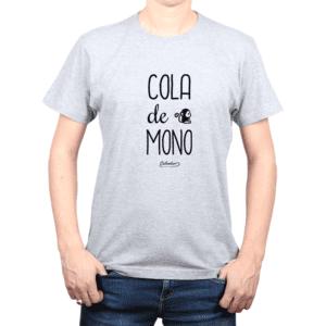 Polera Hombre Calambur 100% algodón Mensaje Divertido Estampado Cola De Mono
