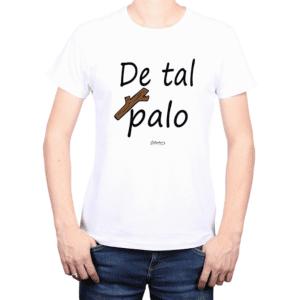 Polera Hombre Calambur 100% algodón Mensaje Divertido Estampado De Tal Palo