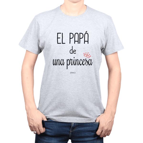 Polera Hombre Calambur 100% algodón Mensaje Divertido Estampado El Papá De Una Princesa