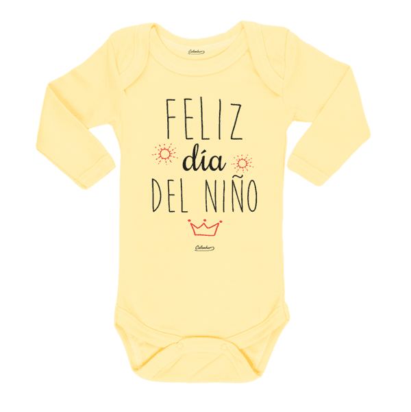 Ropa Bebe Body Calambur 100% algodón Moda Infantil Pilucho Feliz Día del Niño