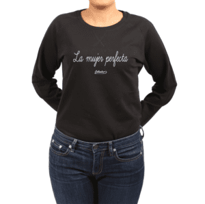 Polerón Mujer Calambur 100% algodón Mensaje Divertido Estampado La Mujer Perfecta
