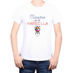 Polera Hombre Calambur 100% algodón Mensaje Divertido Estampado Maestro De La Parrilla