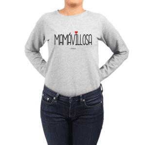 Polerón Mujer Calambur 100% algodón Mensaje Divertido Estampado Mamávillosa