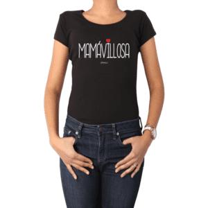Polera Mujer Calambur 100% algodón Mensaje Divertido Estampado Mamávillosa