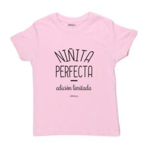 Polera Niño Calambur 100% algodón Mensaje Divertido Niñita Perfecta Edición Limitada