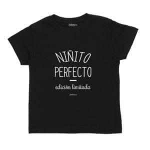 Polera Niño Calambur 100% algodón Mensaje Divertido Niñito Perfecto Edición Limitada