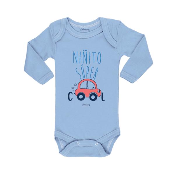 Ropa Bebe Body Calambur 100% algodón Moda Infantil Pilucho Niñito Súper Cool
