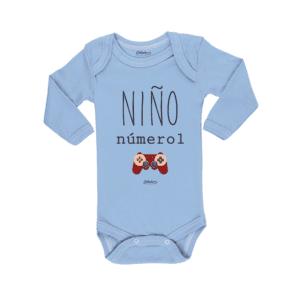 Ropa Bebe Body Calambur 100% algodón Moda Infantil Pilucho Niño Número 1